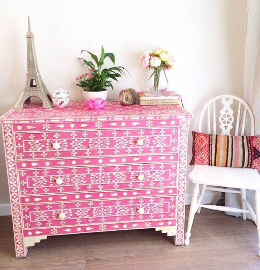 La Boheme ~ House of The Wishing Trees - ON SALE! Pink Bone Inlay Chest, $1,704.83 (http://www.thewishingtrees.com/on-sale-pink-bone-inlay-chest/)