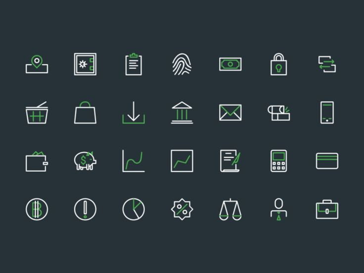 Banking Icons Icons AI Bank Financial Free Graphic Design Icon PSD Resource Vector