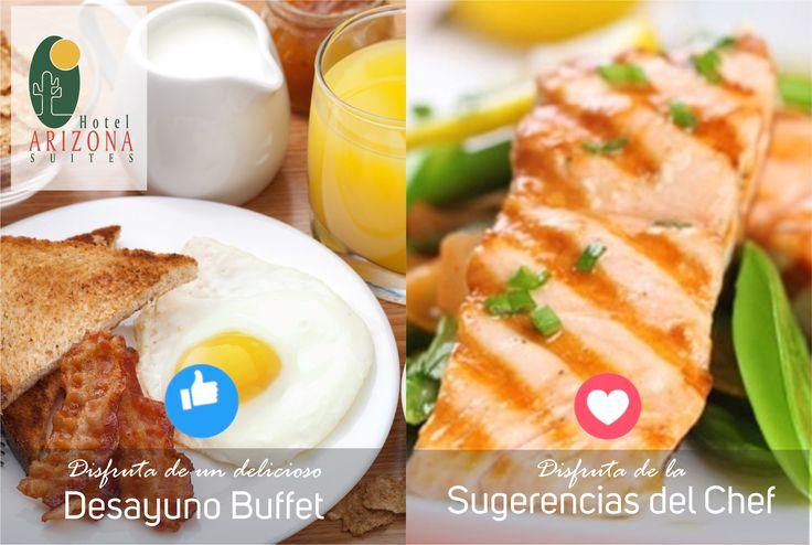 Disfruta en el Hotel Arizona Suites Cúcuta de un delicioso #DesayunoBuffet y de los mejore menús para almorzar con las #Sugerenciasdelchef Av 0 # 7 - 62 Barrio Latino #Cucuta #Colombia  www.hotelarizonasuites.com