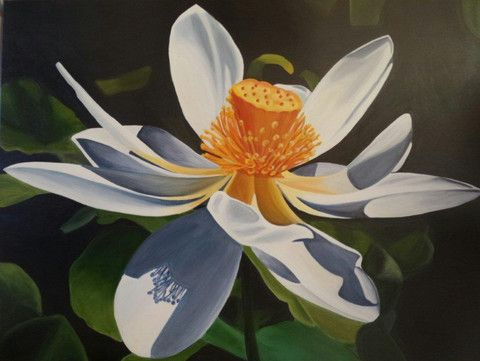 "13 Trove Exhibition ""Moonstone Lotus"" Original Artwork 120 cm x 90 cm"