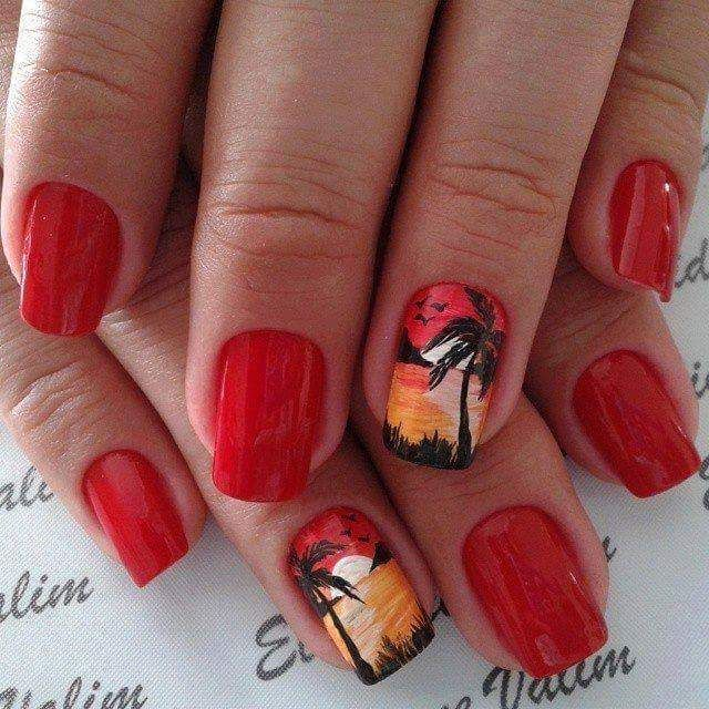 30+ Gorgeous Beach Manicure Designs For 2018 Look