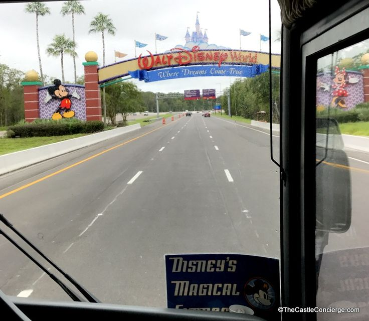 Disney's Magical Express bus arrives WDW.