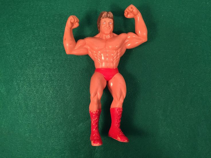 "Vintage Wrestling Doll 1985 LJN Titan WWF WWE Wrestling Superstars Paul Orndorff Large 8"" Rubber Action Figure by ABarnFullofToys on Etsy"