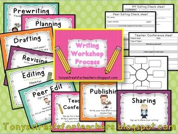 Writing Workshop process posters and graphic organizers Pinterest++ for iPad