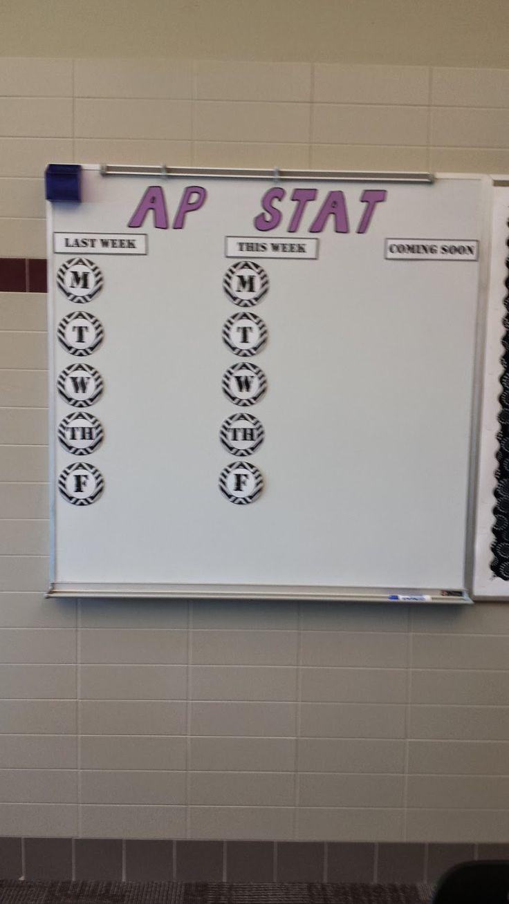 Teaching Statistics: #Made4Math - Agenda Board