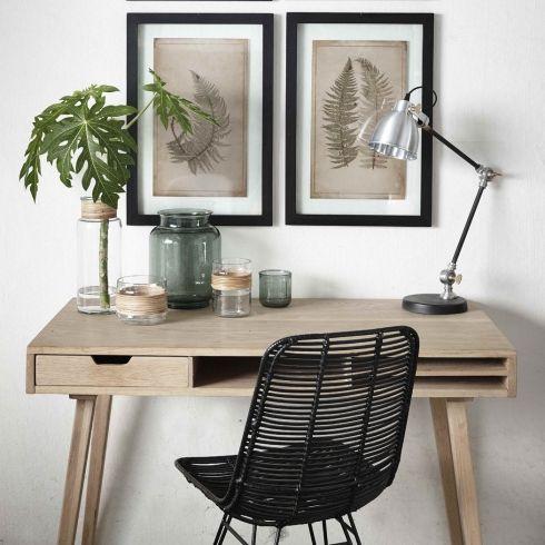 HUBSCH CONSOLE TABLE W/COMPARTMENTS, OAK, NATURE #hubsch #oak #natural #console #desk #homedecor #interior #nordic