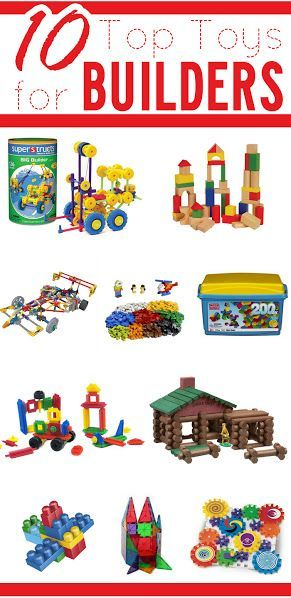 Do you have a kid that loves to build with things? These are the 10 top toys for your builder!