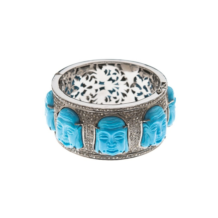 THE WOODS - Thick Cuff with Buddhas