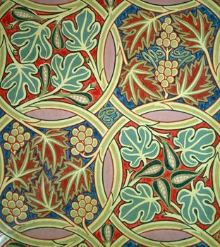 Fig and Vine Wallpaper by George Heywood Maunoir Summer. Produced by Jeffrey & Co. c.1900 V&A