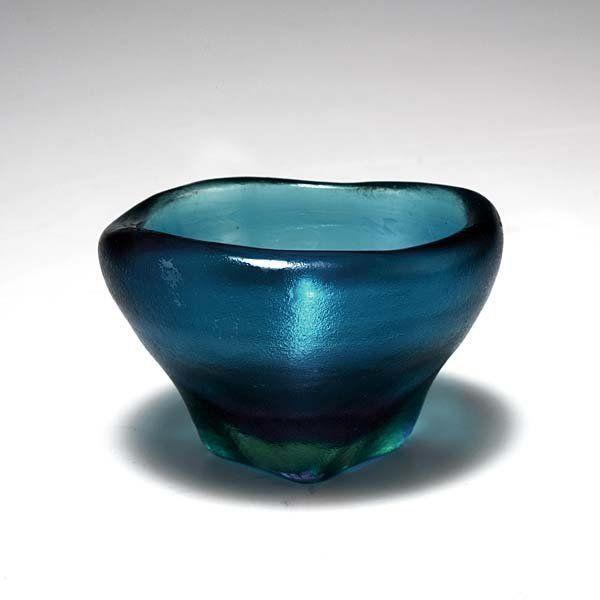 Carlo Scarpa; Glass 'Corroso' Bowl for Venini, 1936.