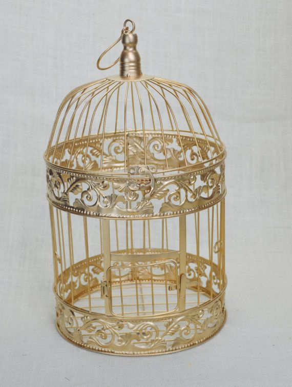 Wedding Birdcage Centerpiece or Wishing Well, Wedding Advice Box. Wedding Decor. Card Box.  This Bird Cage is perfect for Centerpieces or to be $24.99
