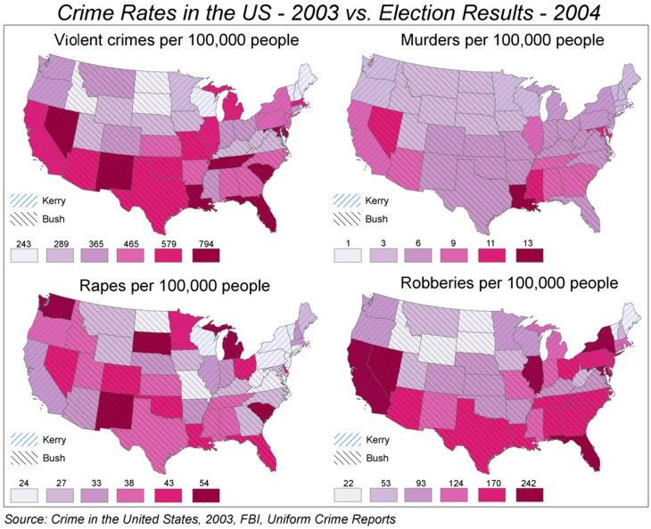 Best  Choropleth Map Ideas On Pinterest Africa Map African - Is there a color coded map of us crime