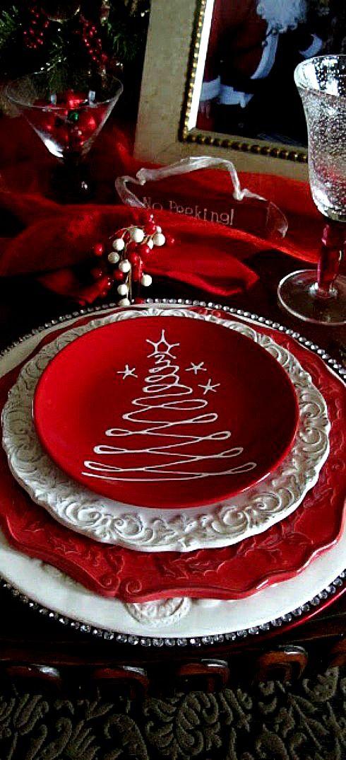 Christmas table setting...