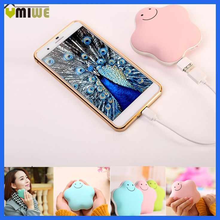 Portable Travel Handy Multifunctional Portable Electric Heaters Hand Pocket Warmer USB Mobile Charging Power Bank Hand Warmer