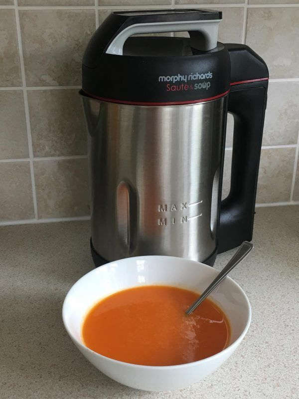 I just had this Red Pepper and Chilli Soup in my Morphy Richards Soup Maker. The chillies definately helped soothe my rotten cold and sore throat I woke up with this morning! #soupmaker #souprecipe #morphyrichards