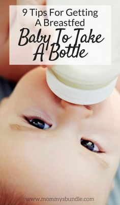 Is your breastfed baby refusing a bottle? It's not easy, but with a little practice and patience you can do it! Such helpful tips to get your breastfed baby to bottle feed!