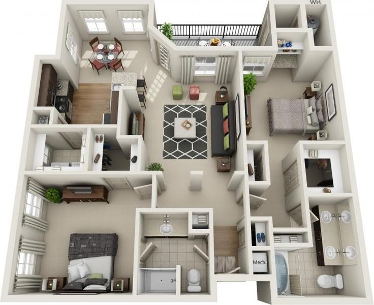 Two Bedroom Floorplans | Avana Apartments