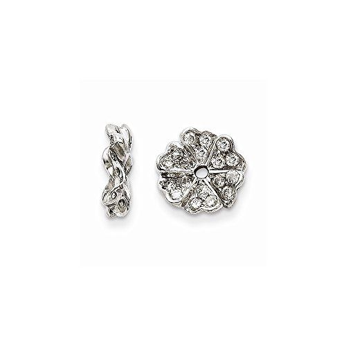 Best Birthday Gift 14K White Gold Diamond Earring Jacket *** You can find more details by visiting the image link.