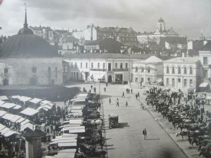 Viipuri market square. Date unknown.