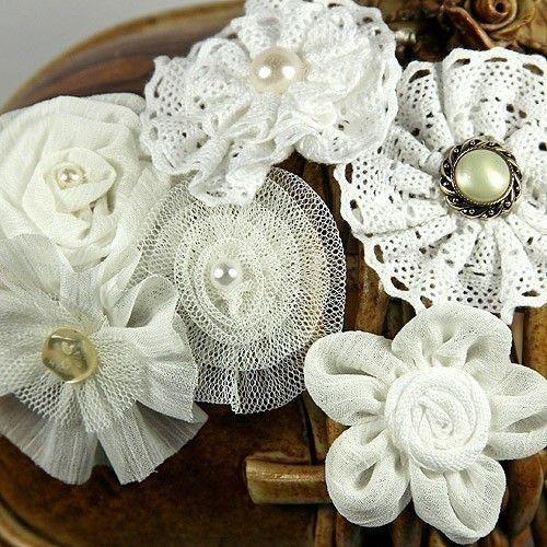 PRIMA Flowers: Madrigal Blüte White Librett Seide / von Hennytj