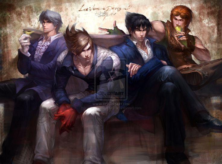 Tekken Lars Jin Kazama Lee HWOARANG by ultramarineandwhite.deviantart.com