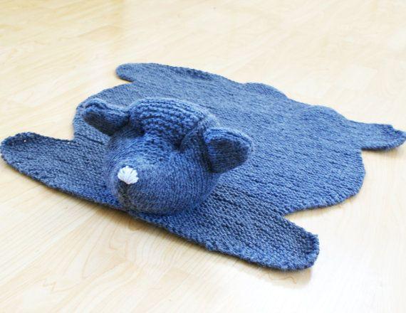 Pattern  Teddy Bear Skin Rug Acrylic Throw by ErinBlacksDesigns, $6.50