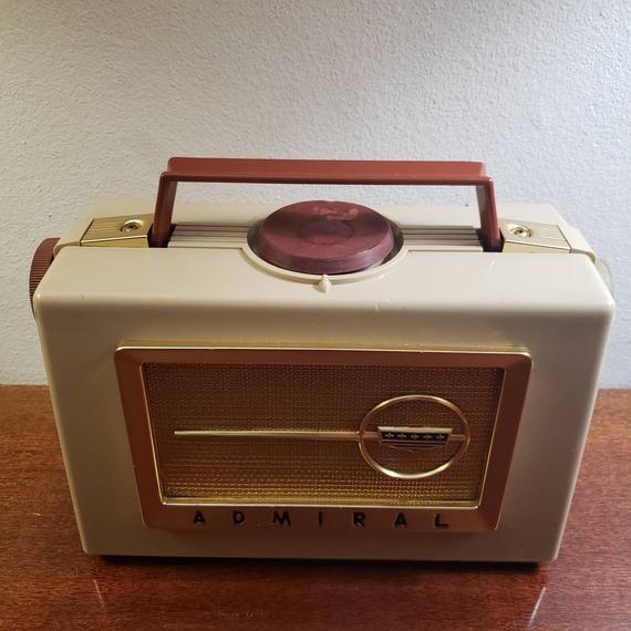Vintage Admiral Radio Converted To Portable Bluetooth Speaker In 2020 Bluetooth Speakers Portable Vintage Train Case Vintage Radio