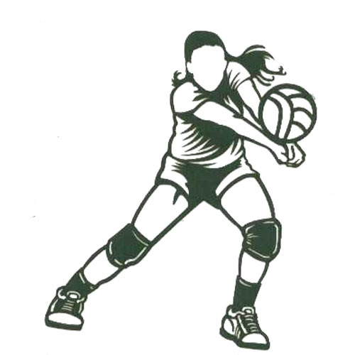 A Z Sports Letter V Volley Ball Laser Lady Volleyball