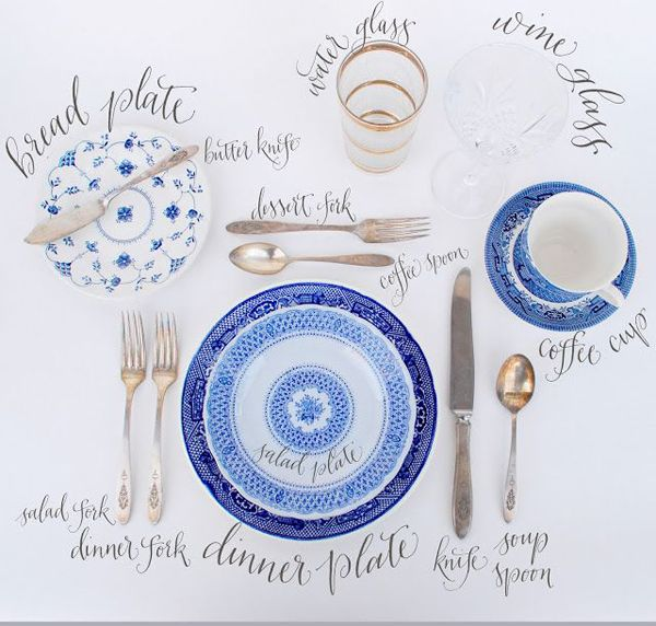 Guide to a perfectly set table!