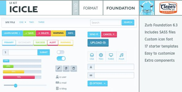 Download Icicle UI Kit for Zurb Foundation 6 Nulled