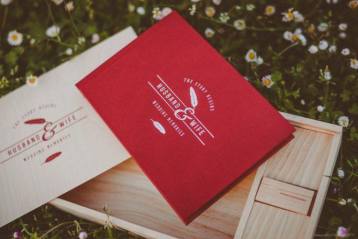 fotolibro matrimonio stile vintage scatola in legno chiavetta usb