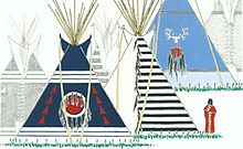 Examples of painted tipi covers, from Paul Goble's book, Tipi: Home of the Nomadic Buffalo Hunters, 2007.