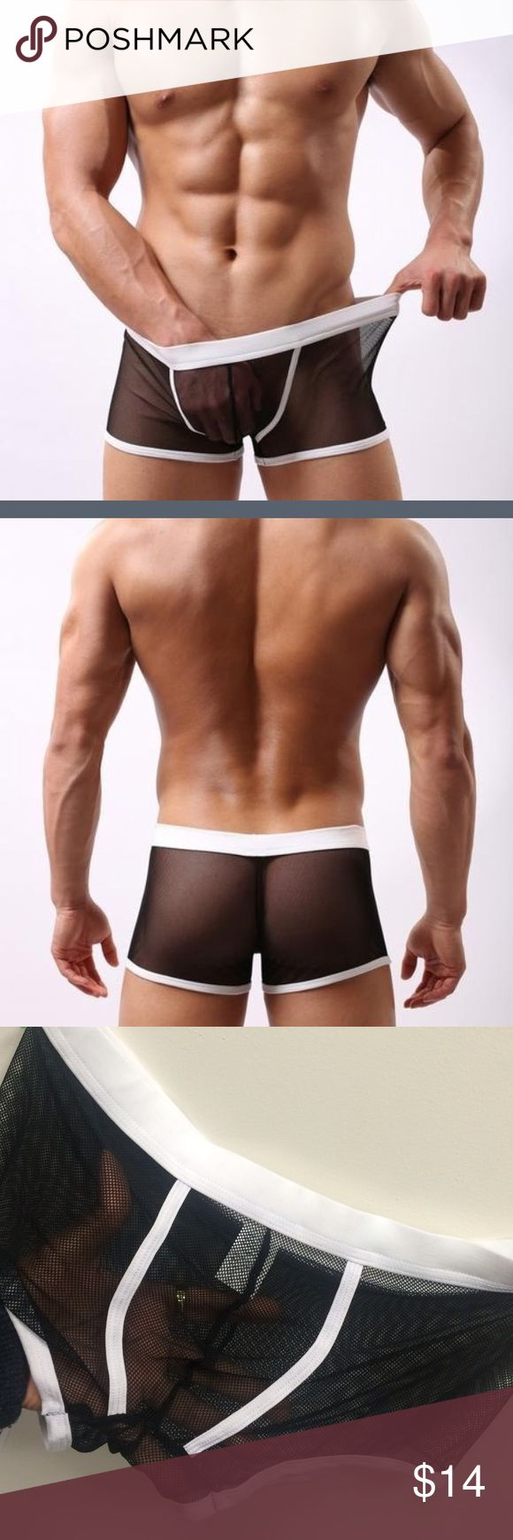 Sexy Men Fish Net Underwear Only have 1. Super stretch. Super soft. Underwear & Socks Boxer Briefs