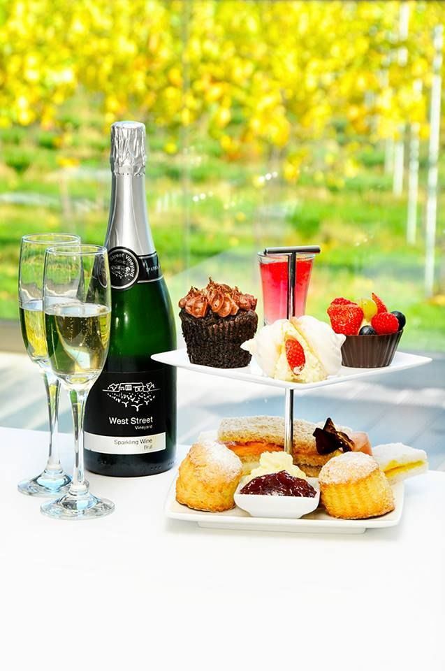 Afternoon tea at West Street Vineyard (Essex) looks like a LOT of fun with English wine! Please telephone 24 hours prior to your visit as all afternoon teas are freshly made and to order on the day.