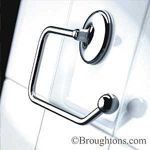 Samuel Heath Classic Toilet Roll Holder Polished Chrome