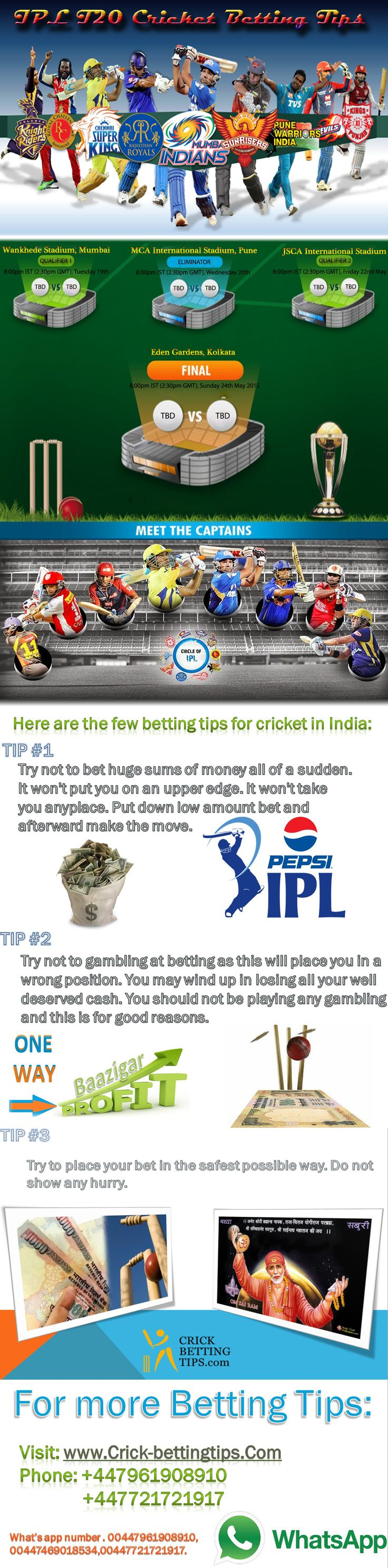 cricket betting tips free india