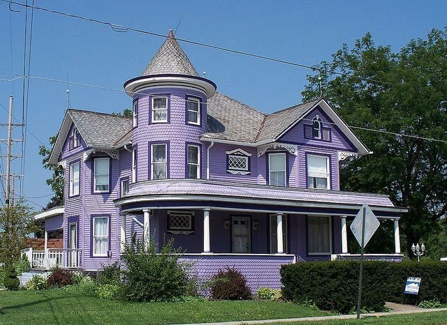 Purple house in Dunkirk Ohio, love it every time I drive past, I vision myself living there. That is my dream home!