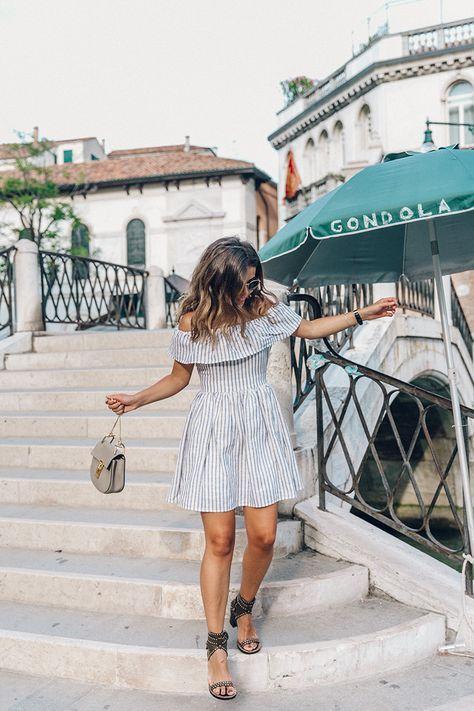 perfect little striped summer sun dress