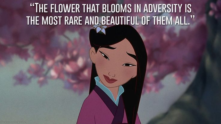 The flower than blooms in adversity is the most rare…