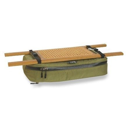 A great storage place to keep items accessible and out of the bilge water, this bag attaches under your canoe seat with two side release buckles. Available at REI, 100% Satisfaction Guaranteed.