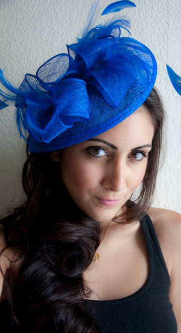 Royal Blue Fascinator Penny Mesh Hat Fascinator by EyeHeartMe ... be4167d5ee3