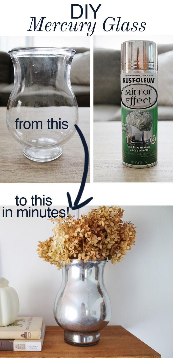 DIY Mercury Glass Vase - Turn a thrift store vase into a beautiful mercury glass vase in minutes!
