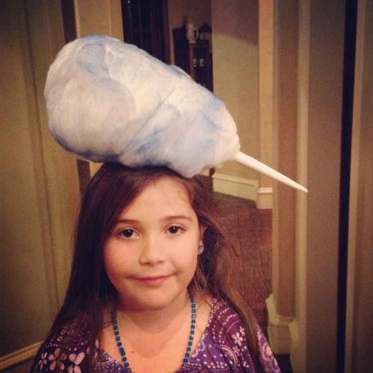 Crazy Hat Day Cotton Candy. #crazyhatday #hats