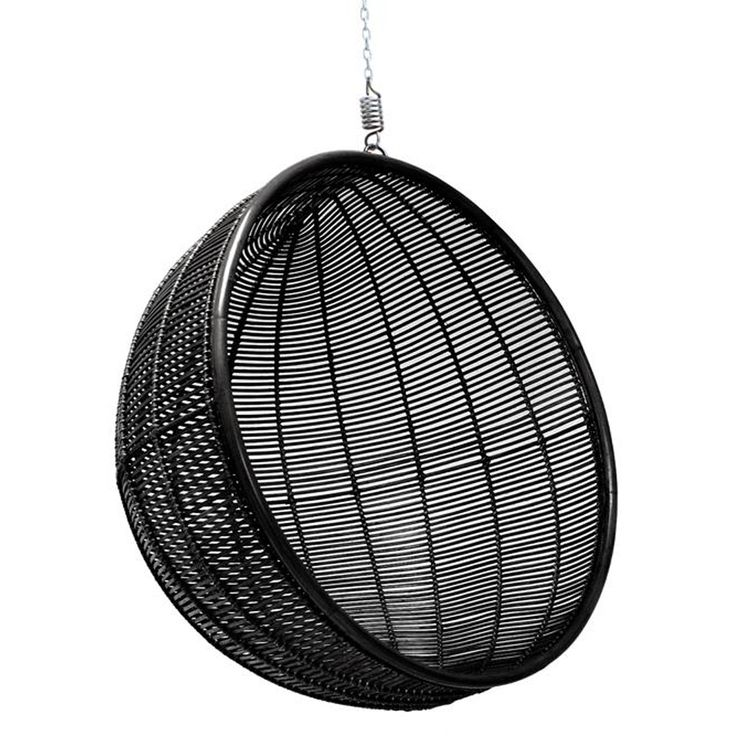 This Wonderful Rattan Indoor Hanging Chair In Black Is Guaranteed To Add A  Playful Element To Your Home And Set Your Inner Kid Free.