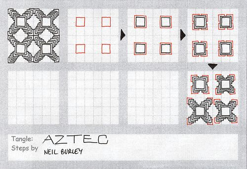 Aztec - tangle pattern