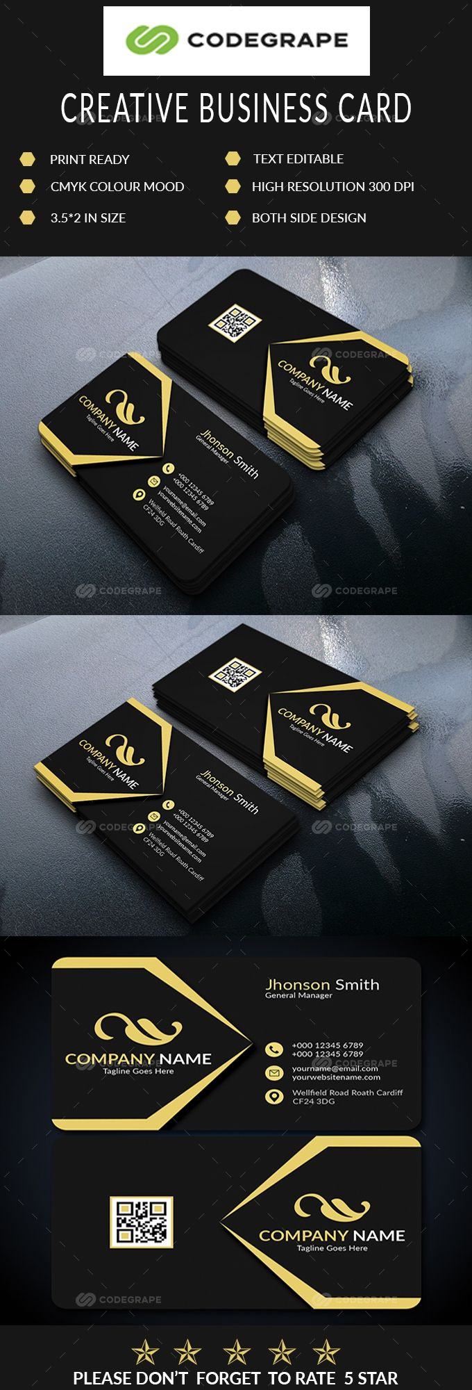 Corporate Business Card In 2020 Corporate Business Card Business Cards Business Card Design