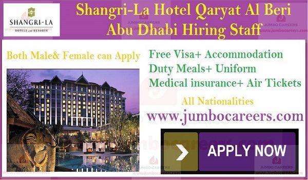 Free visa Air ticket hotel jobs in Abu Dhabi | Latest 5 STAR