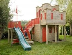 Outdoor castle playhouse