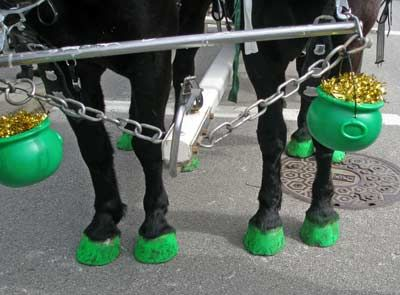 St. Patricks Day parade. Ha! #green, #stpatricksday, #horses, #parade,