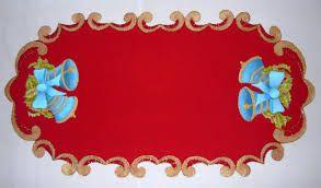 Resultado de imagen para manteles pintados en tela navideños